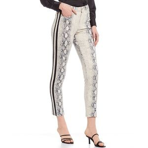 Gianni Bini High Rise Snake Stripe Straight Pants